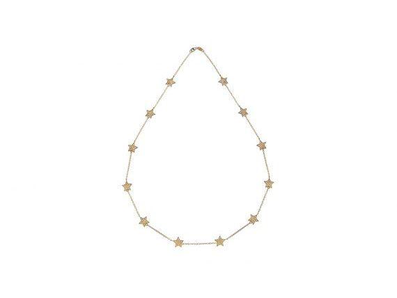 Spallanzani Jewelry Stella Chain Necklace set with white sapphires