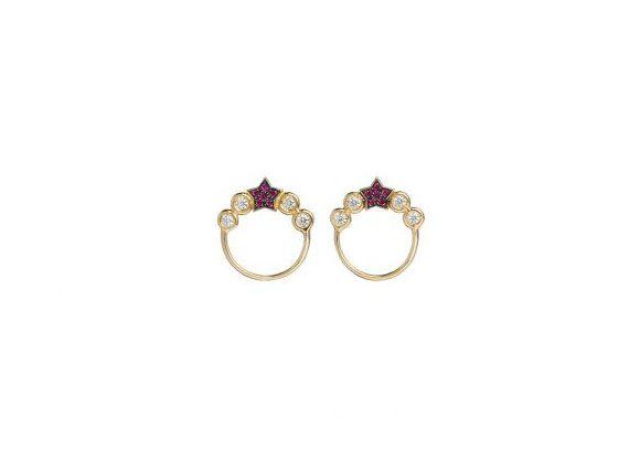 Spallanzani Jewelry Stella earrings with red stars