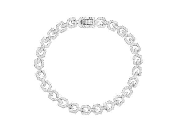 APM Monaco - Silver chain bracelet from the Art Deco collection