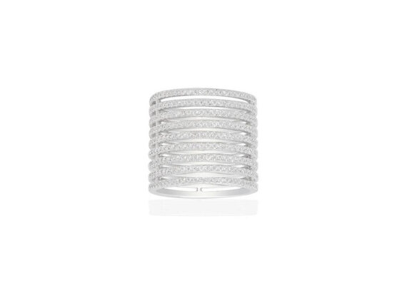 APM Monaco - Ring mounted on sterling silver from the ADN Croisette collection