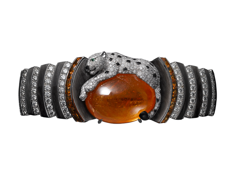 Cartier - L'Odyssée de Cartier bracelet set with a spessartite cabochon and diamonds