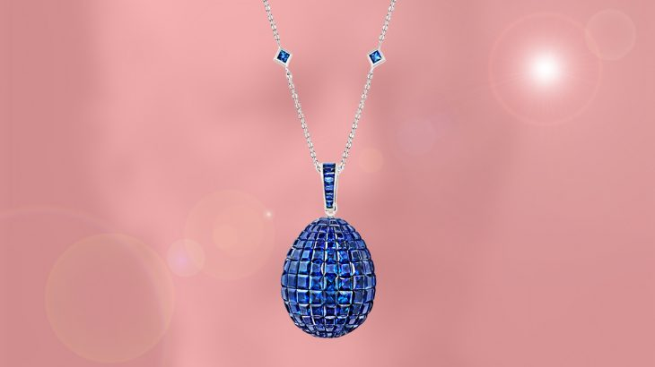 The FABERGE Emotion Sapphire Egg pendant: most jeweled and must-have !