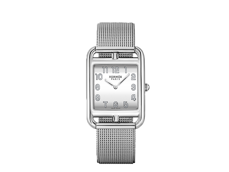 Hermes - Cape Cod Watch made with steal and a steal polish Milanese bracelet