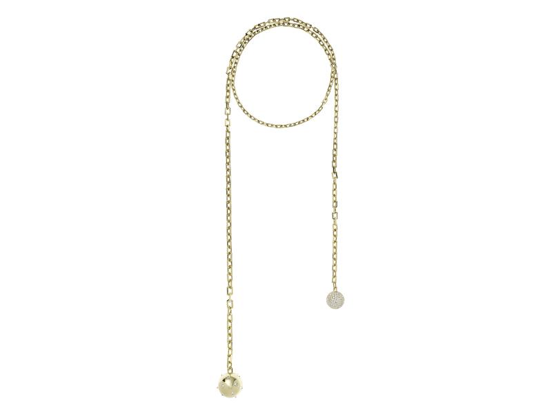 Nikos Koulis - Lingerie collection K18 yellow gold necklace with white diamonds