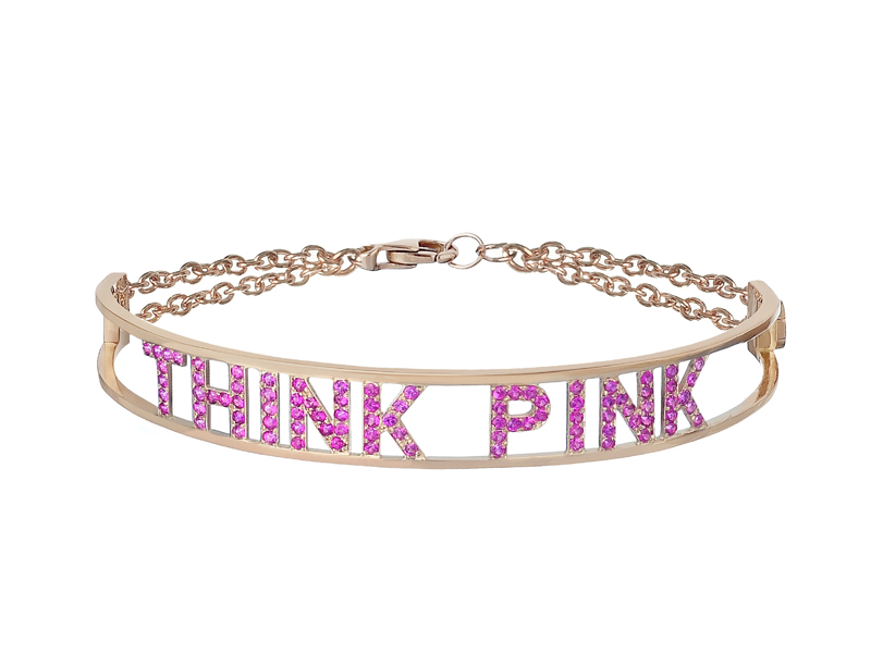 Spallanzani - Only You, Think Pink bracelet, sapphires set in rose gold