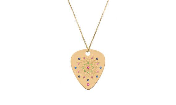 Jenny Dee Jewelry Psychedelia Perseverance Mandalic 18ct yellow gold rubies tsavorites blue sapphires