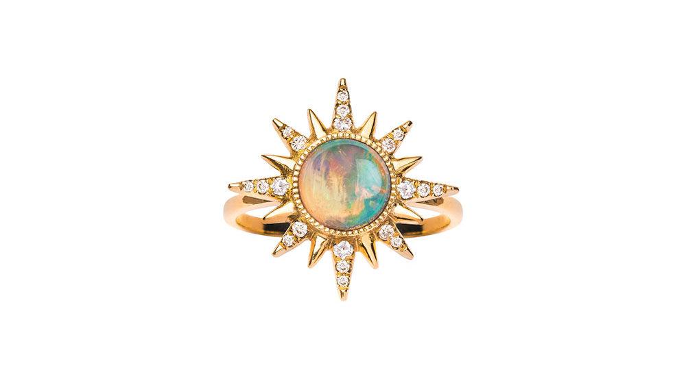 Bague «Electra Maxima» opale ethiopienne