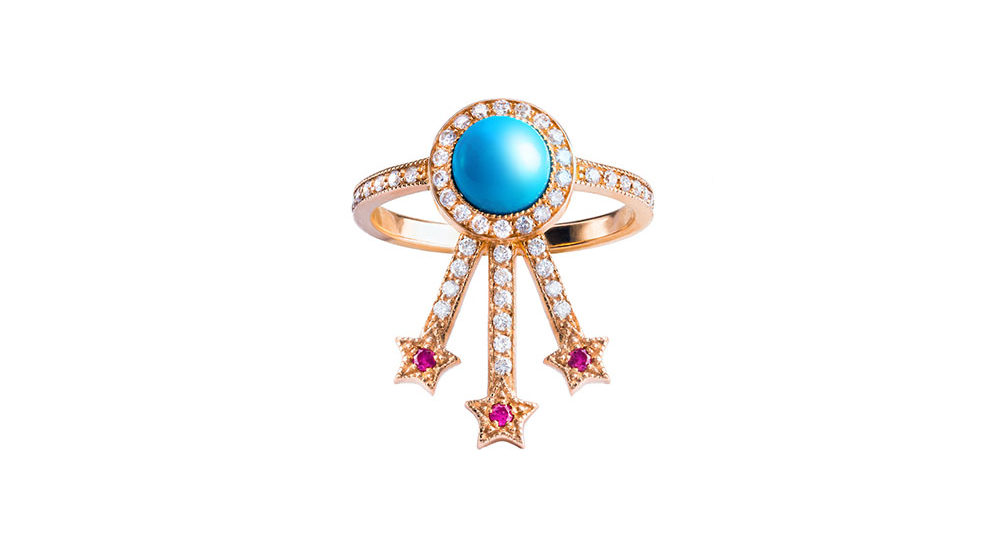 Turquoise Alcylone Ring