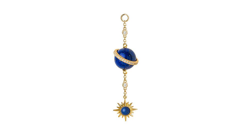 Lapis Lazuli Electra Spherical Ear chain
