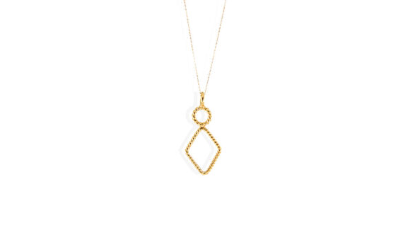 Christina Soubli Tiny Rhombus pendant 18ct yellow gold to shop marketplace