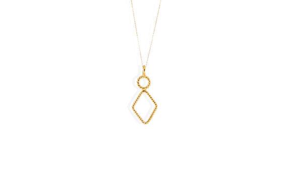 Tiny rhombus pendant