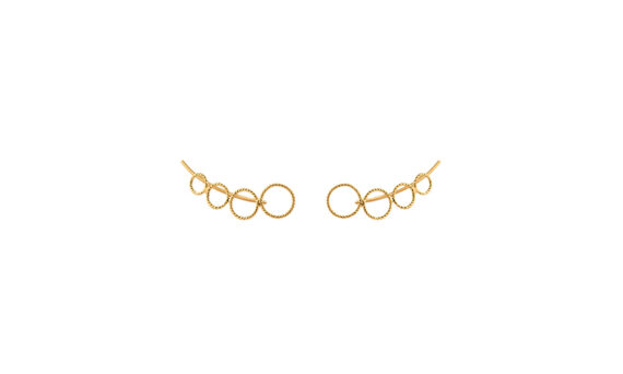 Christina Soubli Round ear climbers 18ct yellow gold to shop marketplace