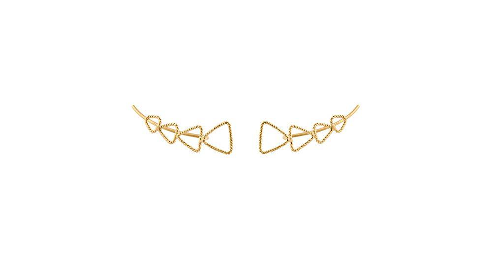 Boucles d'oreilles montantes Triangle