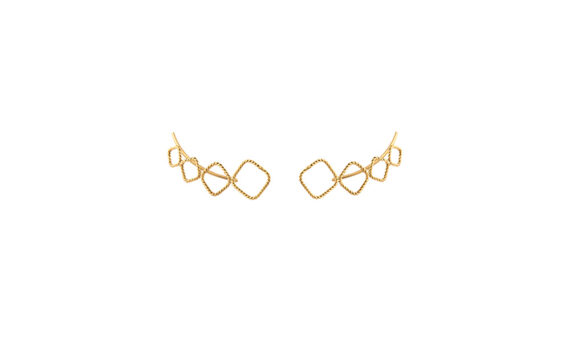 Christina Soubli Square ear climbers 18ct yellow gold to shop marketplace