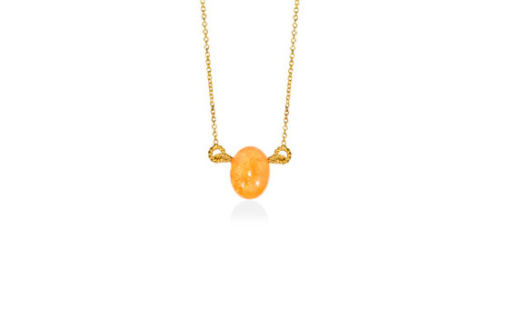 Christina Soubli Candy pendant 18ct yellow gold orange tourmaline to shop marketplace