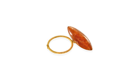 Candy loose ring with sunstone