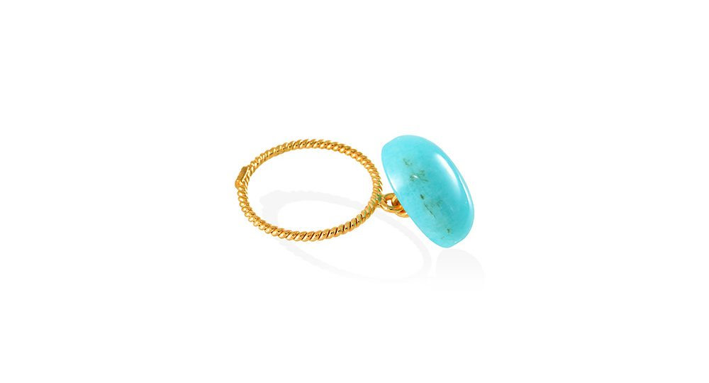 Candy loose ring with amazonite