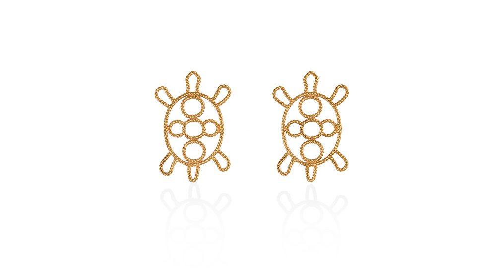 Turtle earring studs