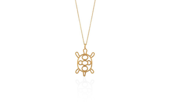 Christina Soubli Turtle pendant 18ct yellow gold to shop marketplace