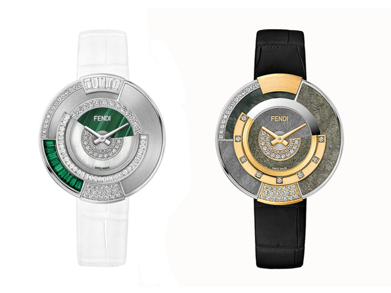 Fendi - Policromia collection watches with diamonds and genuine stones