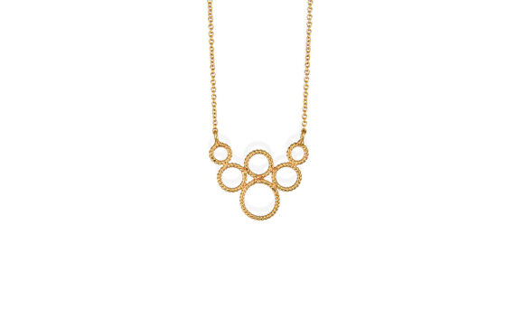 Christina Soubli Tiny hoop pendant 18ct yellow gold