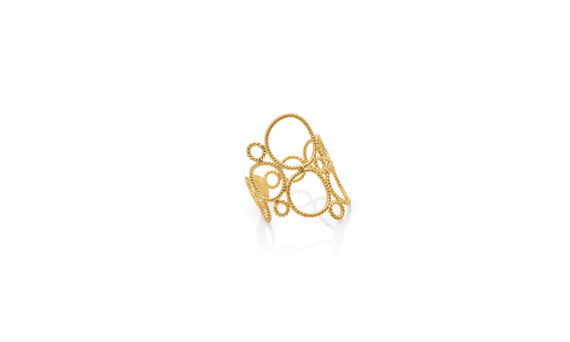 Christina Soubli Lace ring 18ct yellow gold shop marketplace