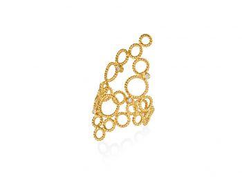 Brokar ring with 4 diamonds