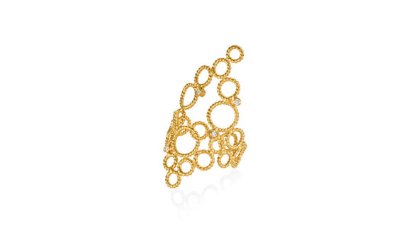 Christina Soubli Brokar ring 18ct yellow gold 4 diamonds to shop marketplace
