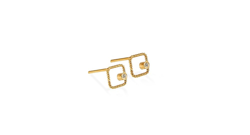Square earring studs