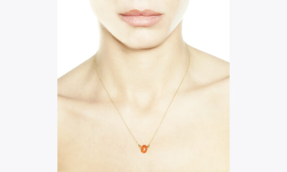 Christina Soubli Candy pendant with orange tourmaline 18ct yellow gold