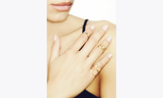 Christina Soubli Lace ring 18ct yellow gold