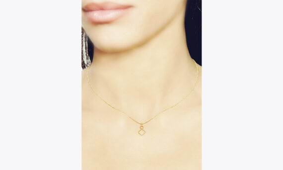 Christina Soubli Tiny rhombus pendant 18ct yellow gold