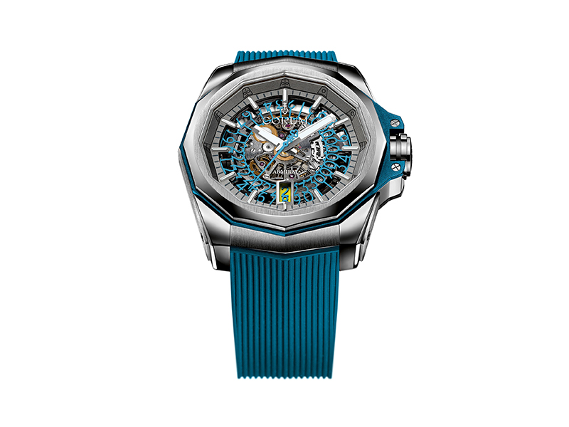 Corum - Admiral 45 Skeleton in turquoise color
