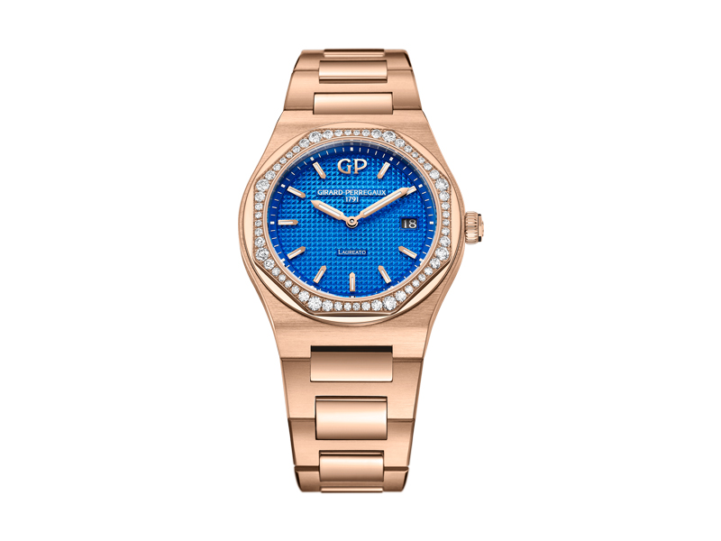Girard Perregaux - Watch Laureato Royalty Blue Limited Edition, set with diamonds