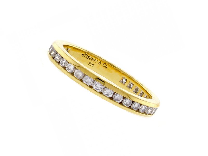 Tiffany & Co. - Ring mounted on yellow gold set with diamonds