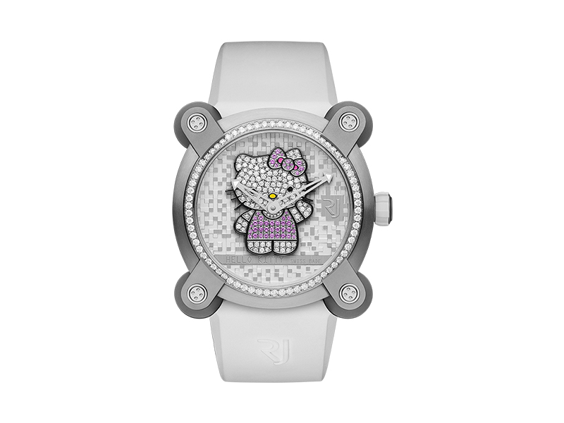 RJ Watches-Hello Kitty set with diamonds and pink sapphires