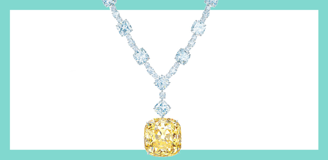The Tiffany Diamond. Yellow Diamond