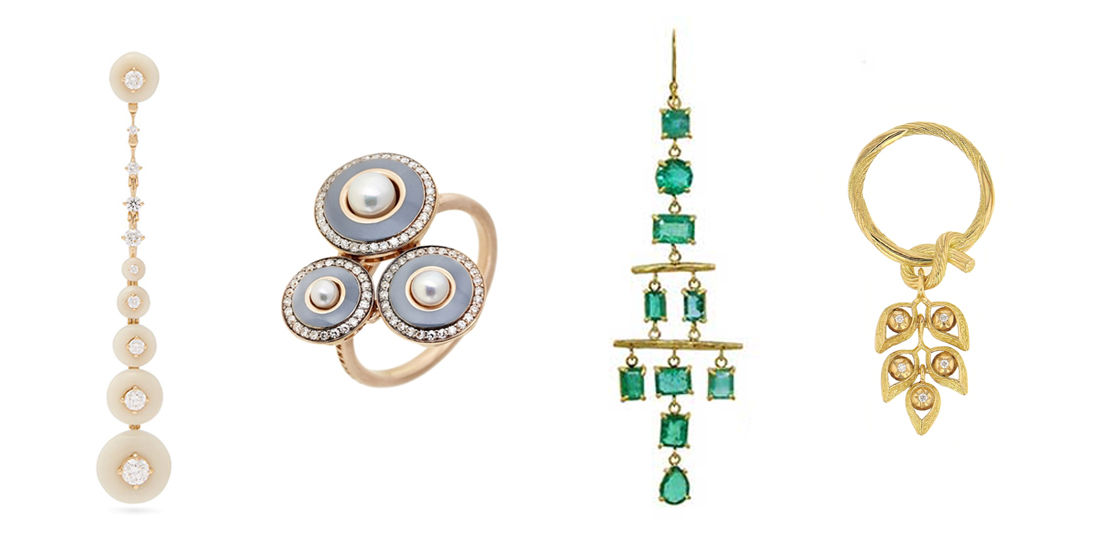 Couture Show : Fernando Jorge Earrings, Selim Mouzannar, Margery Hirschey earrings, Elie Top Ring