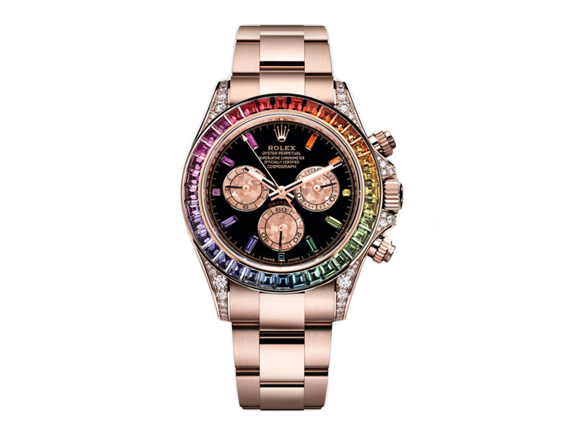 Rolex - Daytona Rainbow watches in everose gold