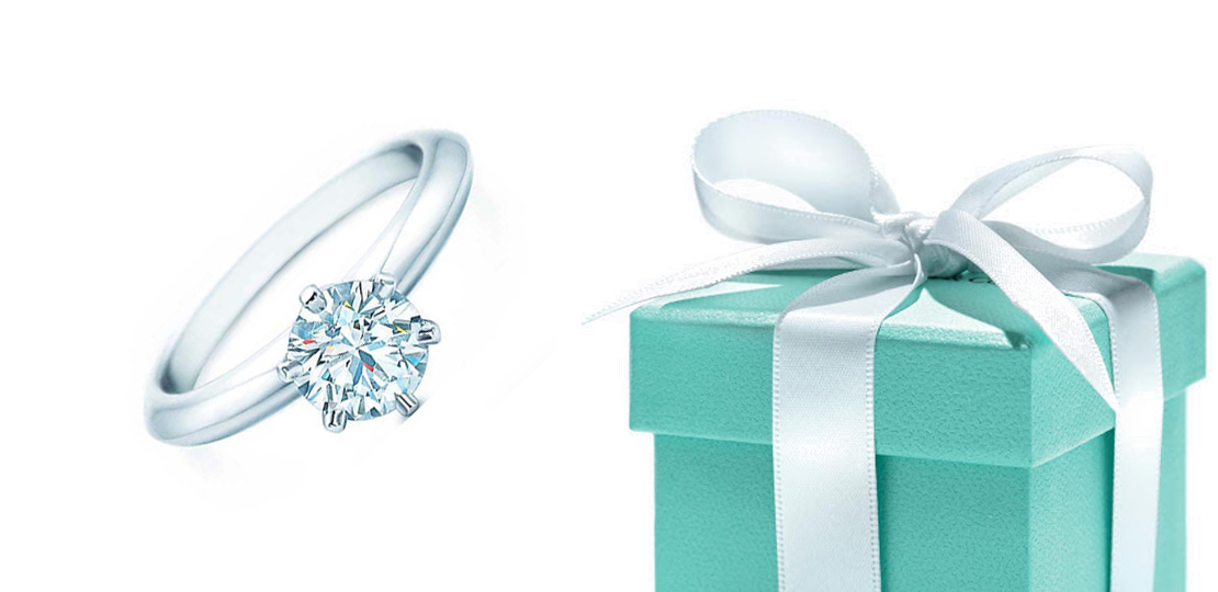 Tiffany & Co. ring and blue box