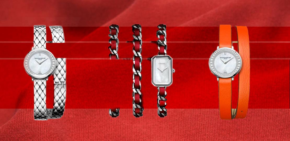 Bracelet double tour chanel hermes baumes et mercier