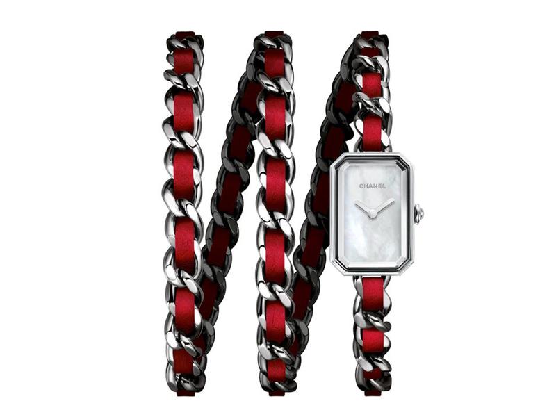 Chanel Premier Rock rouge bracelet double tour