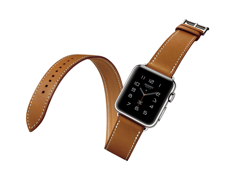 Hermès Apple watch avec bracelet double tour en cuire