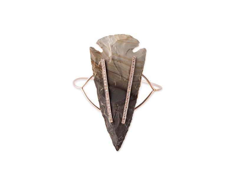 Jacquie Aiche - Manchette en pointe de flèche géante pavée diamant