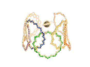 7 Chakras Enchaînés Spinel Bracelet