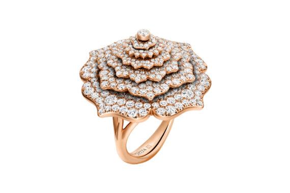 Caspita 7 Chakras Tourbillon Diamond ring rose gold
