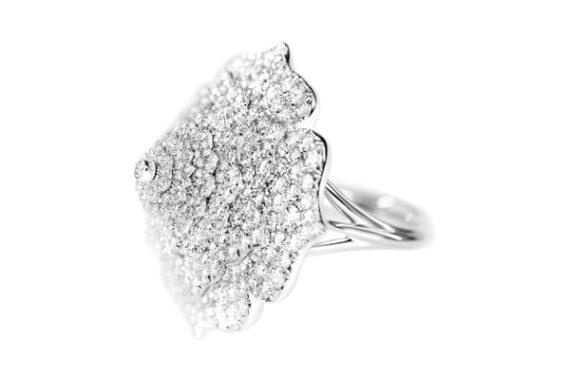 Caspita 7 Chakras Tourbillon Diamond ring white gold