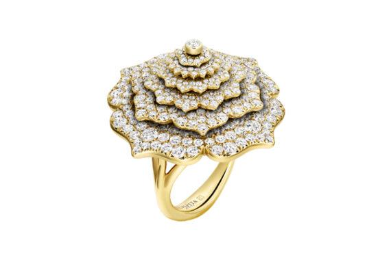 Caspita 7 Chakras Tourbillon Diamond ring yellow gold
