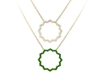 Silhouette Chakra Anahata Necklace 32 mm