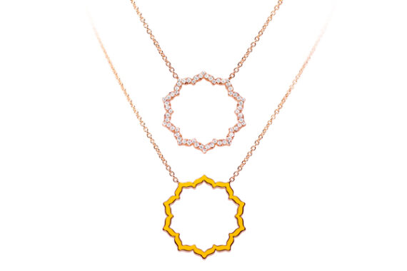 Caspita Silhouette Manipura necklace rose gold diamonds